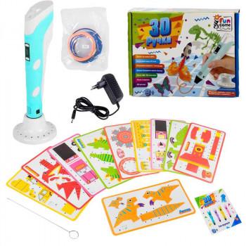 Ручка 3d Fun Game голубая RK60484