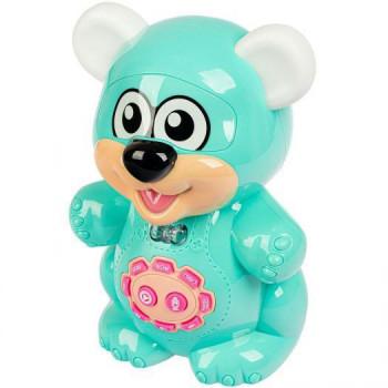Интерактивная сенсорная игрушка Play Smart Мишка Сказочник, мятный, рус T7499