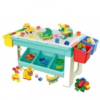 Игровой столик 2в1 Bowa с конструктором 69 деталей SV8405